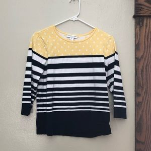 3/4 sleeve sweater.